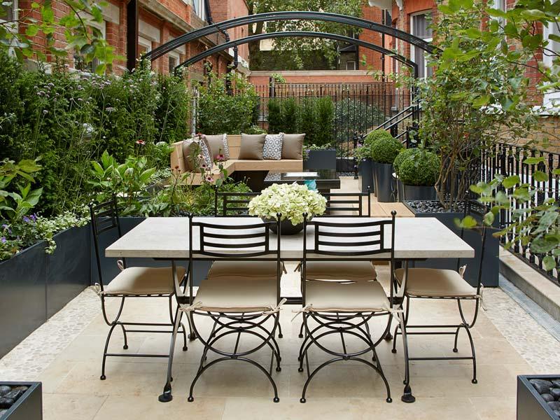 Комплект садовой мебели в стиле прованс