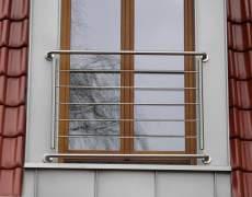 Ограждение окна из нержавейки
