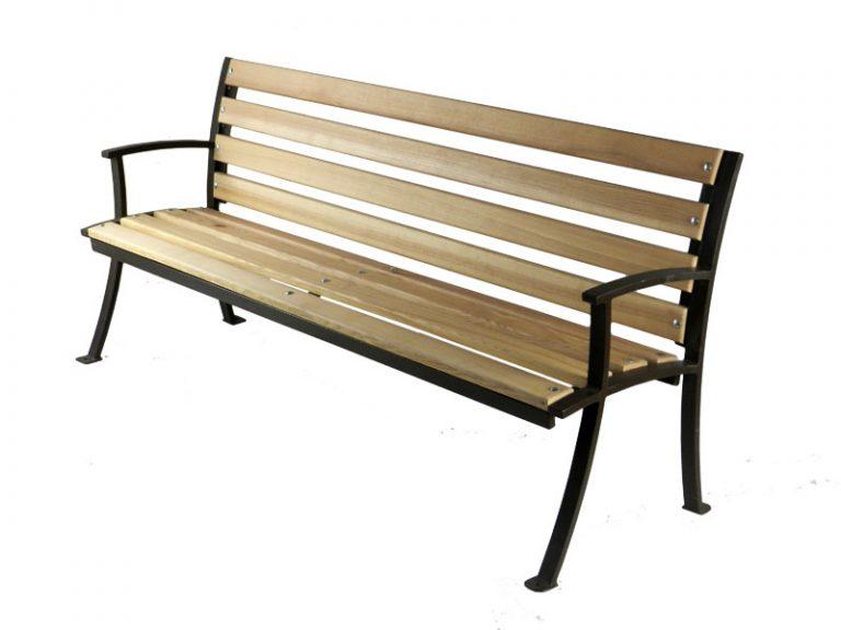 купить скамейки из металла и дерева