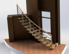 Перила на криволинейной лестнице