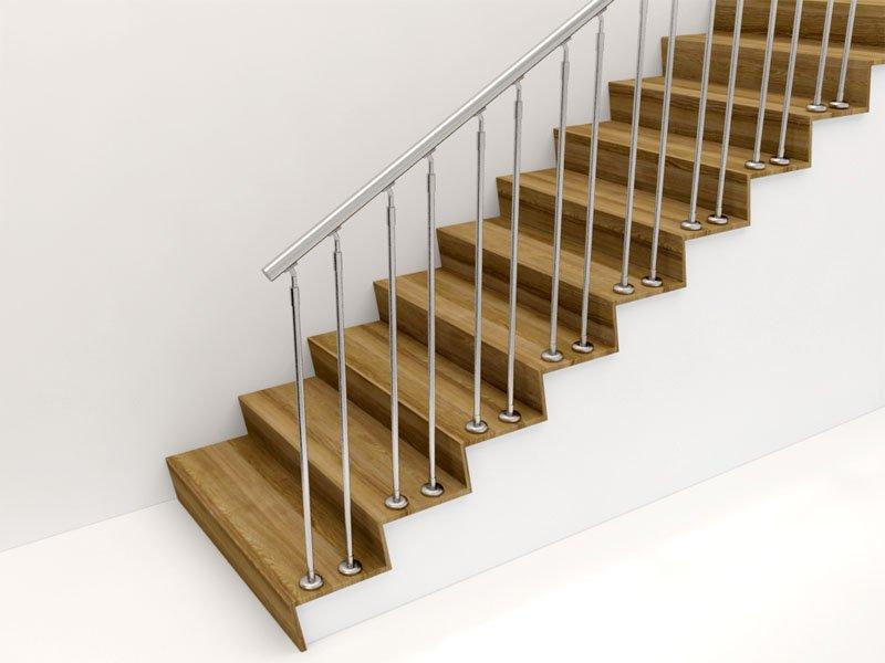 Перила с нержавейки для лестницы, балкона