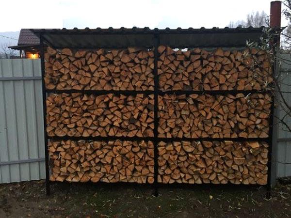 Фото навеса для дров