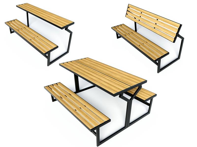 Скамейка стол трансформер