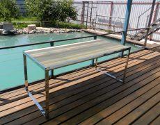 Фото стола для террасы из нержавейки