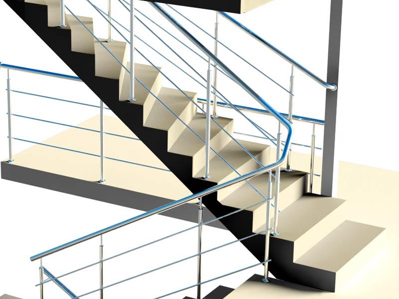 лестничные перила из нержавеющей стали фото