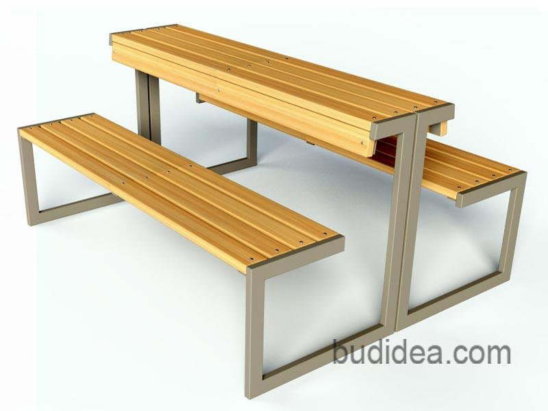 Фото модульной лавочки со столом