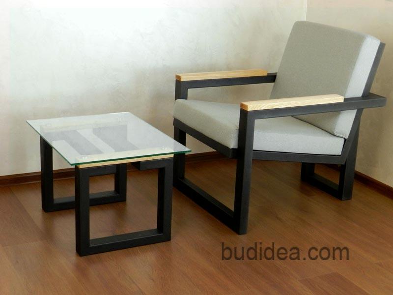 Кресло и журнальный столик лофт