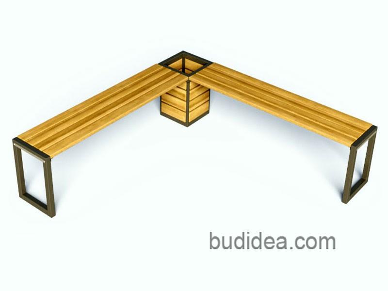Угловая скамейка с кашпо