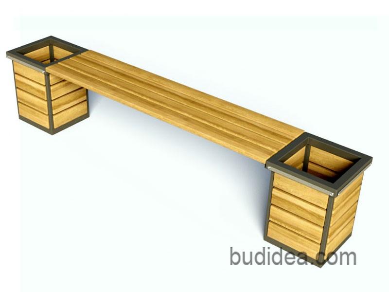 Скамейка с двумя кашпо
