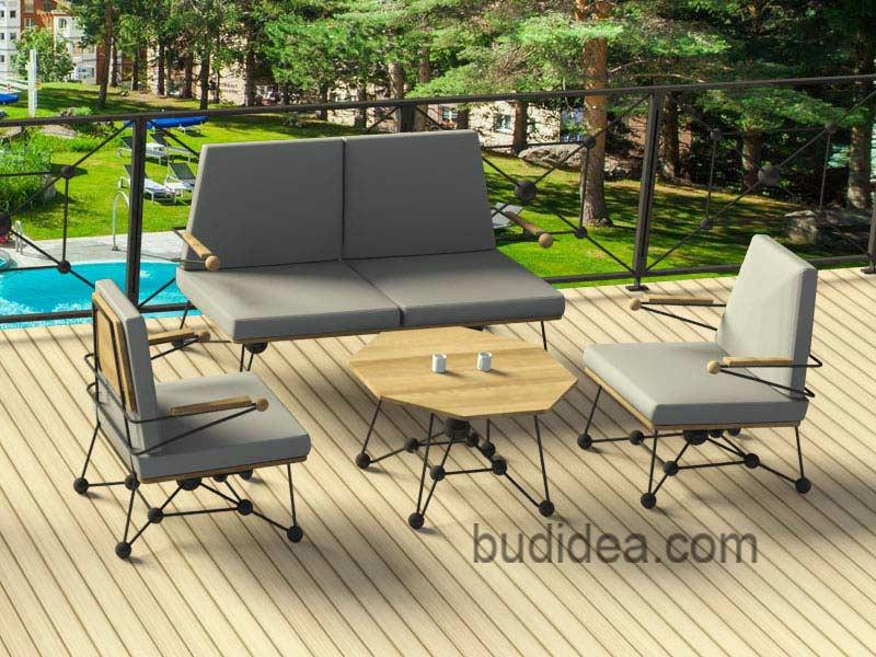 Садовый комплект: диван, кресла, столик