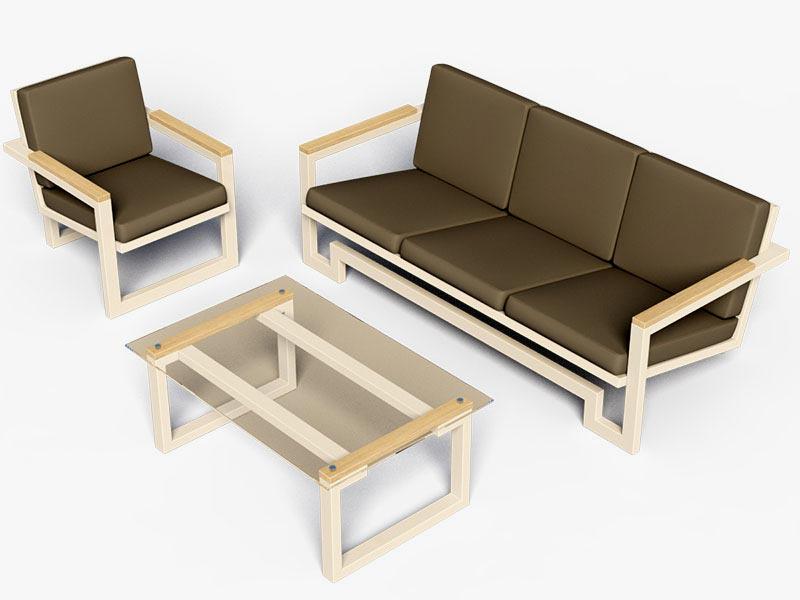 Диван и кресла в стиле лофт