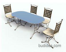 Комплект мебели для террасы Прованс
