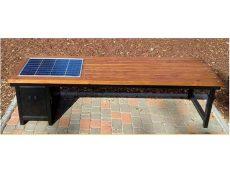 Скамейка с солнечными панелями