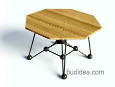 Журнальный столик в стиле лофт Атом