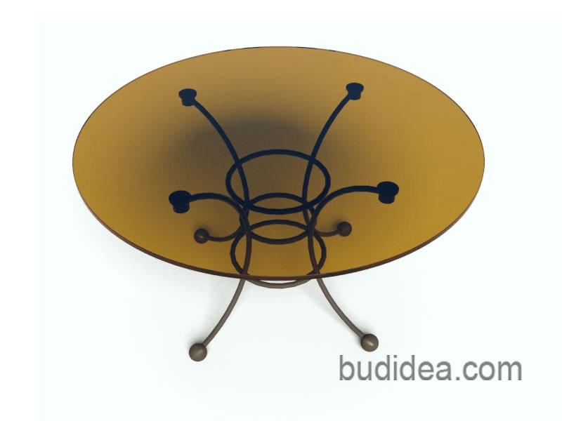 Столик садовый Прованс со стеклом