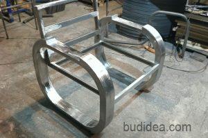Кресло лофт в процессе изготовления