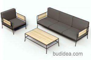 садовая мебель из металла и дерева