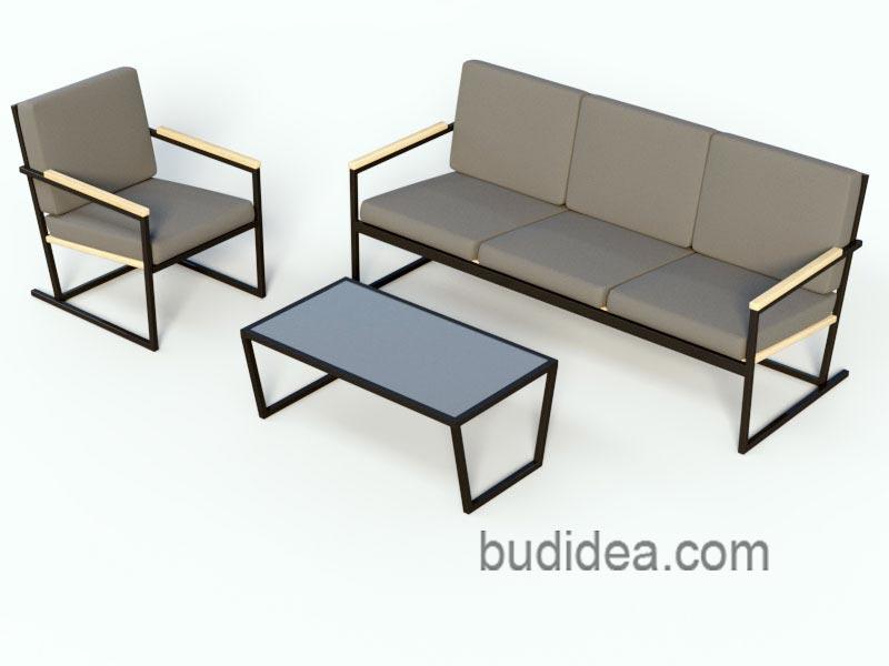 Мебель стиль лофт из металла и дерева