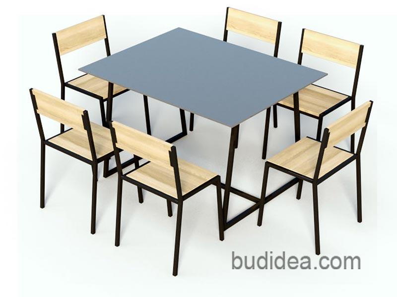 Садовый набор мебели из металла и дерева