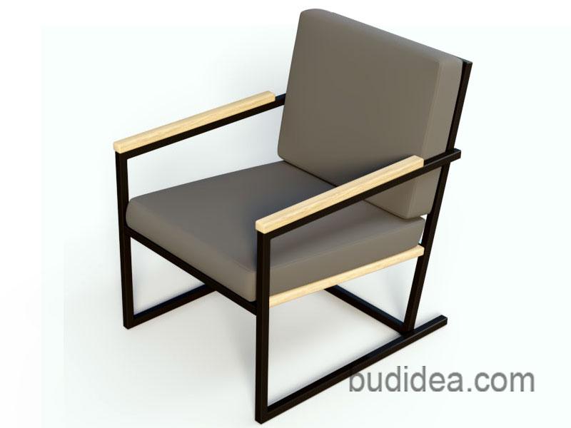 Кресло для дачи из металла