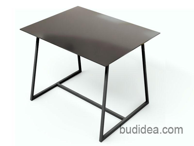 Садовый стол из металла и стекла