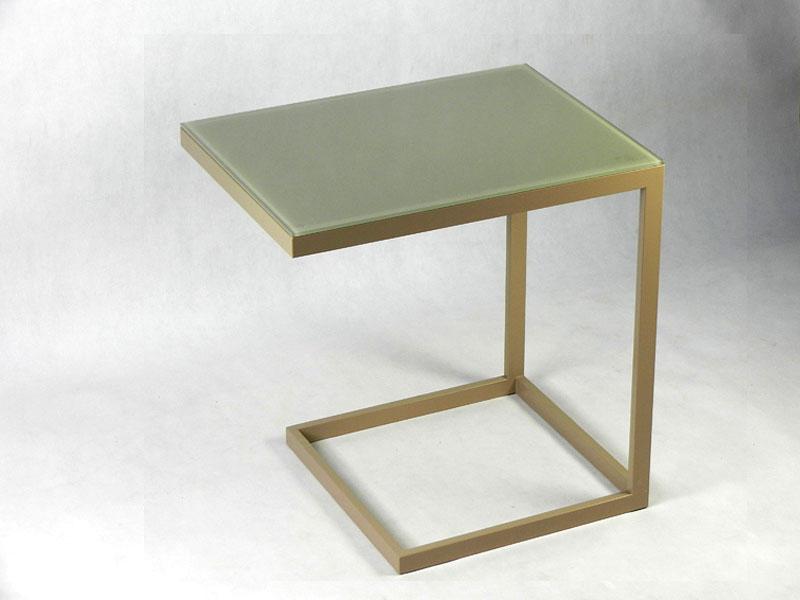 Консольный столик из стекла и металла