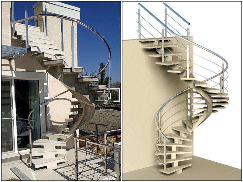 Винтовая лестница на улице