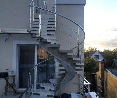 Перила для винтовой лестницы
