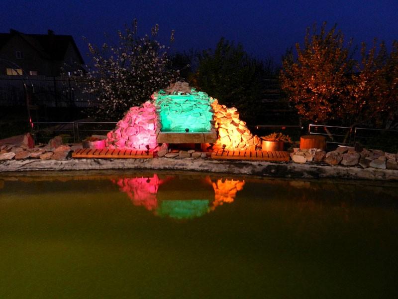Садовый водопад из камней