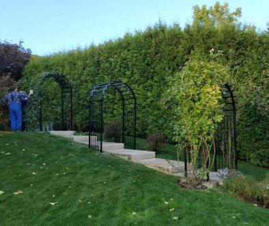 Перголы для сада из металла