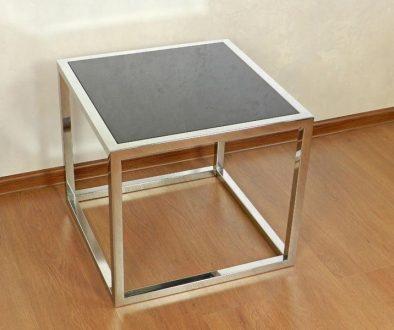 Журнальный столик со стеклом чёрного цвета
