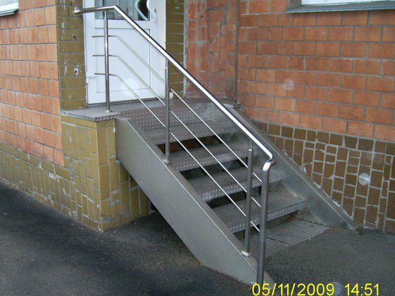 Лестницы из нержавейки