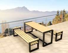 Комплект садовой мебели из металла