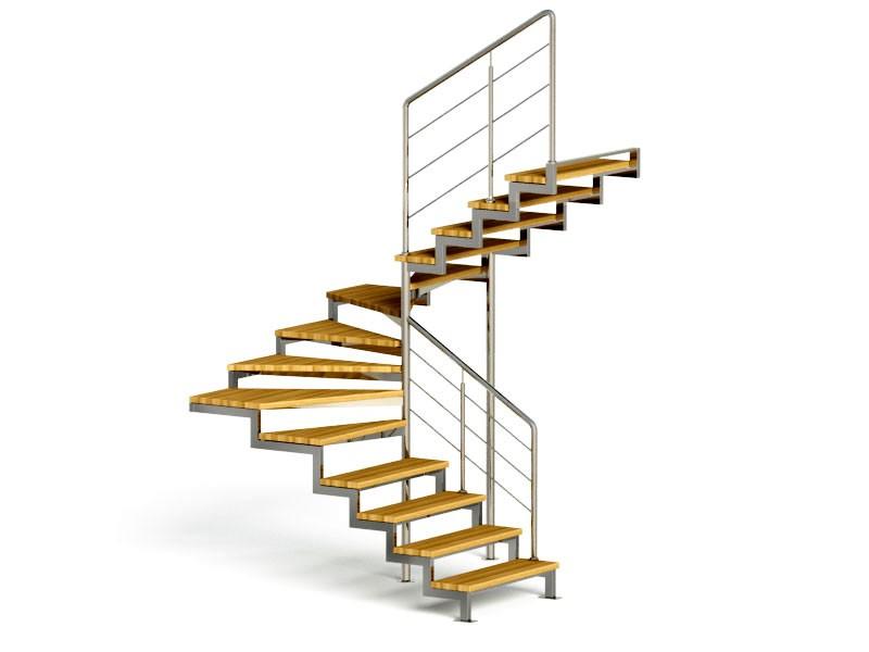 Фото поворотной лестницы